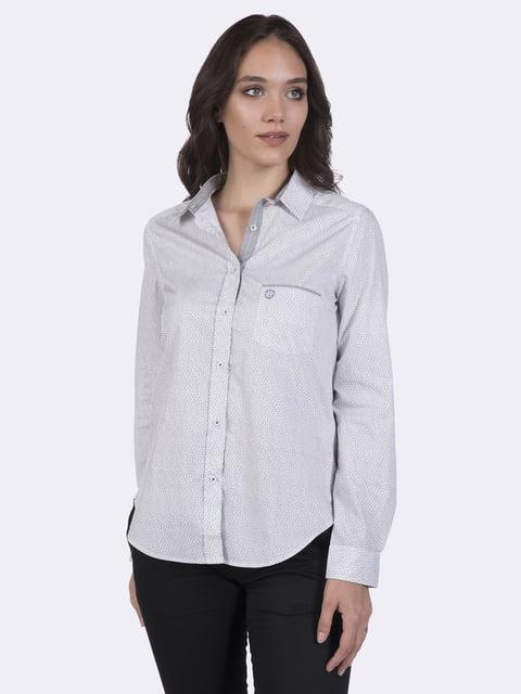 Рубашка белая в принт FELIX HARDY 4403641