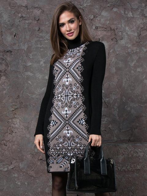 Платье черное с принтом GUASH 5204505