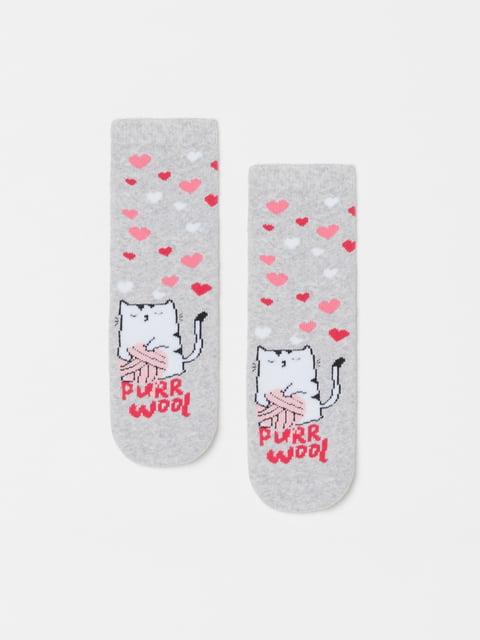 Шкарпетки сірі в принт Oviesse 5183606