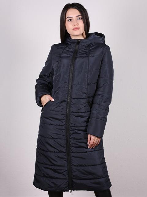 Пальто темно-синє Fashion 5204939