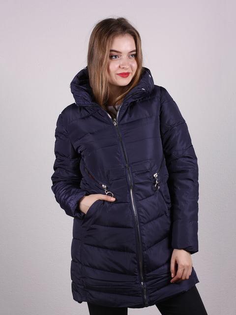 Пальто темно-синє Kuyingying 5205197