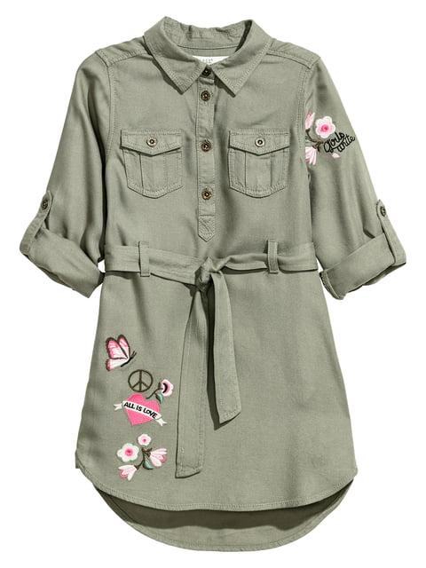 Платье цвета хаки H&M 5210524