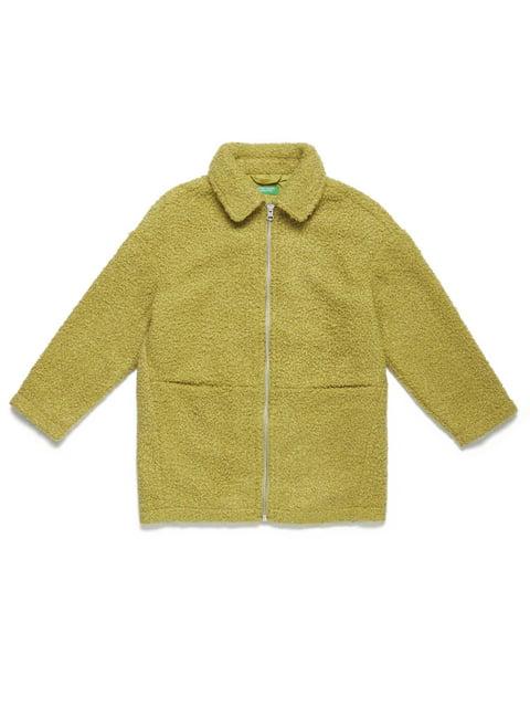 Пальто фісташкового кольору Benetton 5211556