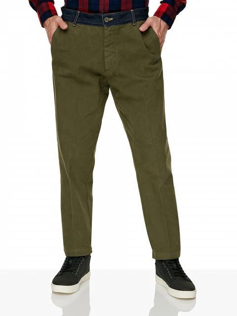 Штани кольору хакі Benetton 5184132