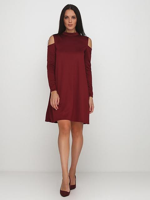Платье бордовое Podium 5214343