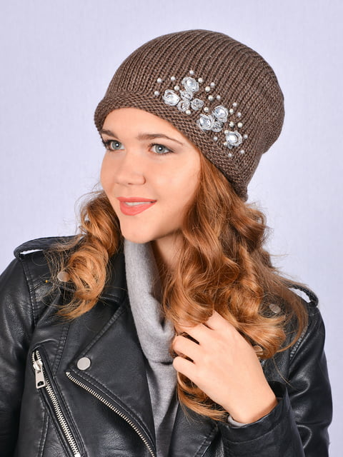 Шапка коричнева Fashion Look 5215212