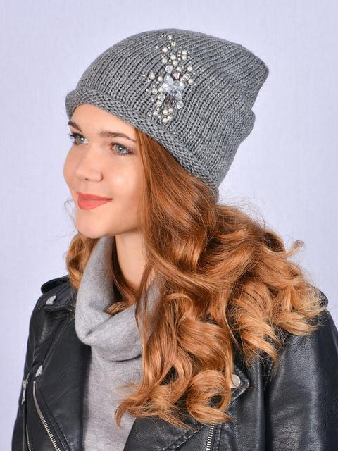 Шапка сіра Fashion Look 5215215