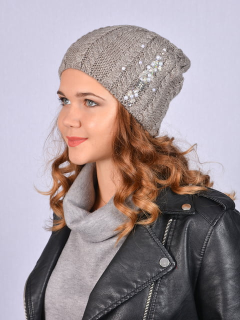 Шапка сіра Fashion Look 5215217