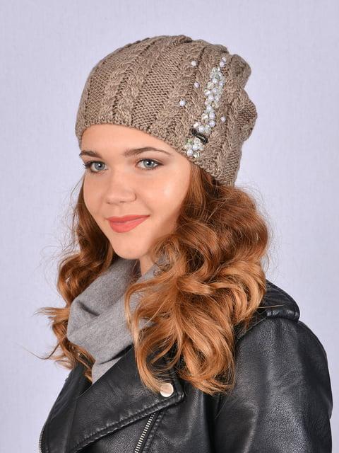 Шапка коричнева Fashion Look 5215218
