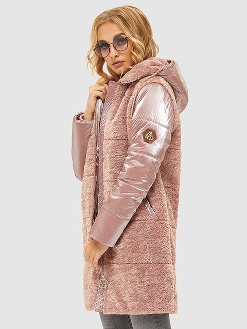 Пуховик рожевий Mila Nova 5216083