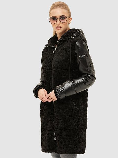 Пуховик чорний Mila Nova 5216084