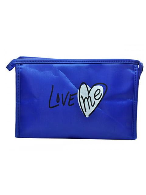 Косметичка синя з принтом Luvete 5219568