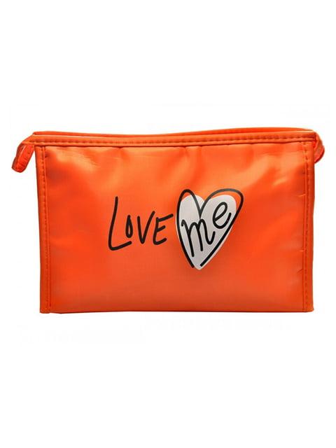 Косметичка помаранчева з принтом Luvete 5219569