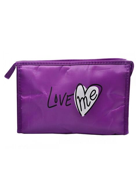 Косметичка фіолетова з принтом Luvete 5219570