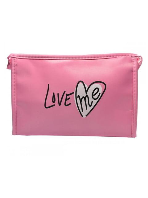 Косметичка рожева з принтом Luvete 5219571