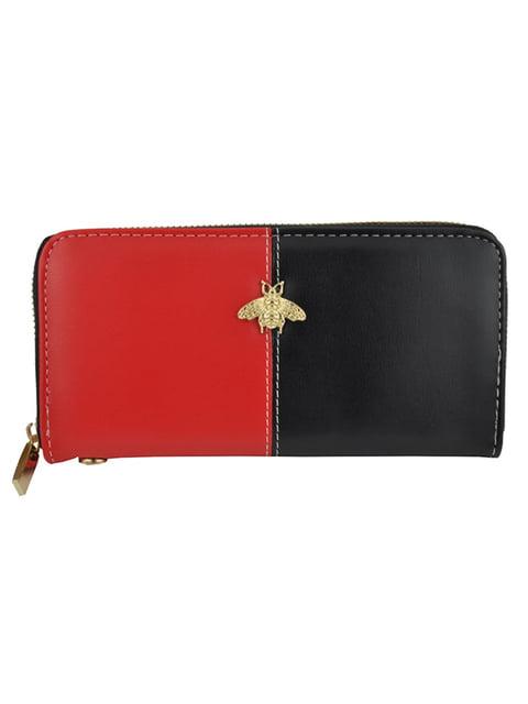 Гаманець чорно-червоний Luvete 5219650