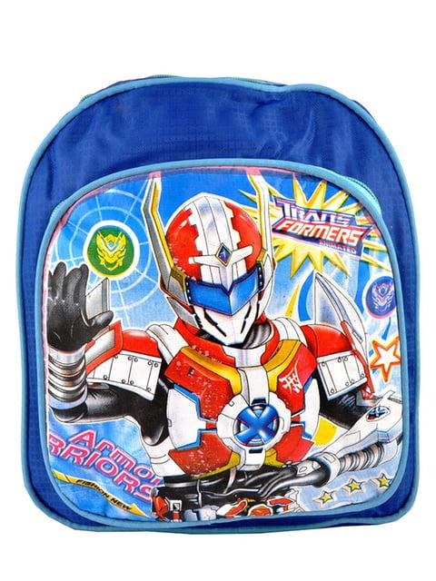 Рюкзак синій з принтом Luvete 5219755