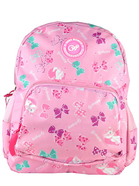 Рюкзак рожевий з принтом Luvete 5219764