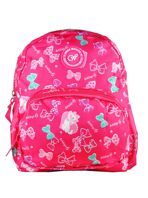 Рюкзак малиновый с принтом Luvete 5219766