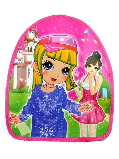 Рюкзак розовый с принтом Luvete 5219782