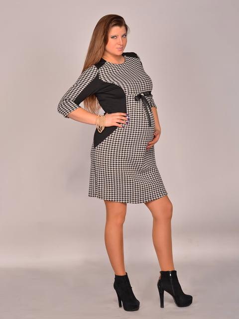 Сукня чорно-біла в гусячу лапку Feminelle 1773106