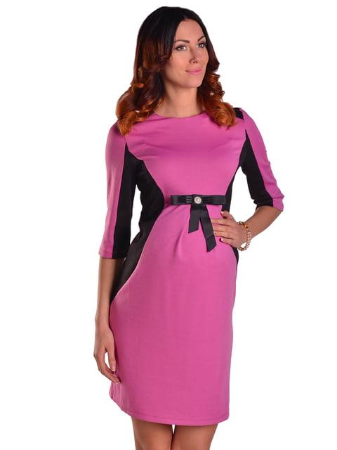 Сукня малиново-чорна Feminelle 2205671