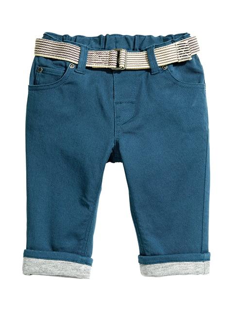 Брюки темно-синие H&M 5217110