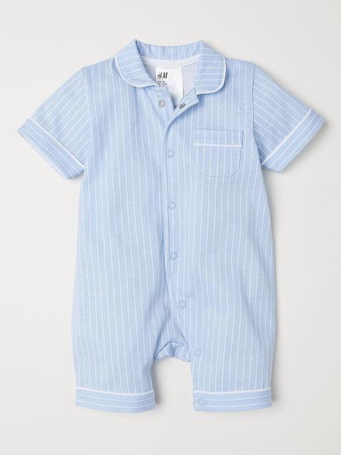 Пижама голубая в полоску H&M 5223623