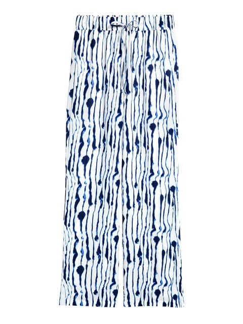 Брюки синие в принт H&M 5223826