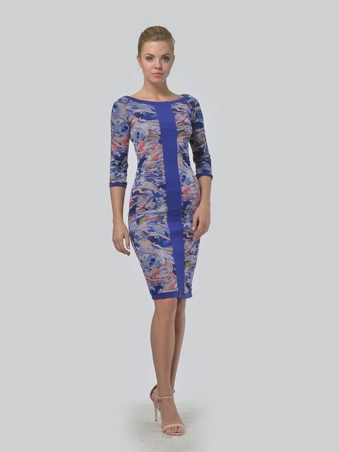 Платье синее с принтом LILA KASS 5224291