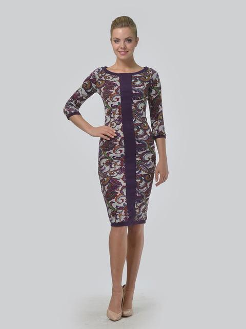 Платье фиолетовое с принтом LILA KASS 5224292