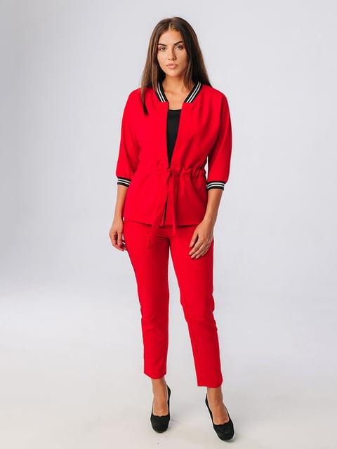 Костюм красный: жакет и брюки VSV 5225854