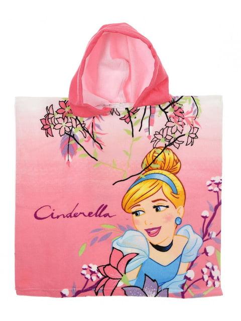 Полотенце-пончо розовое с принтом Disney 5227058