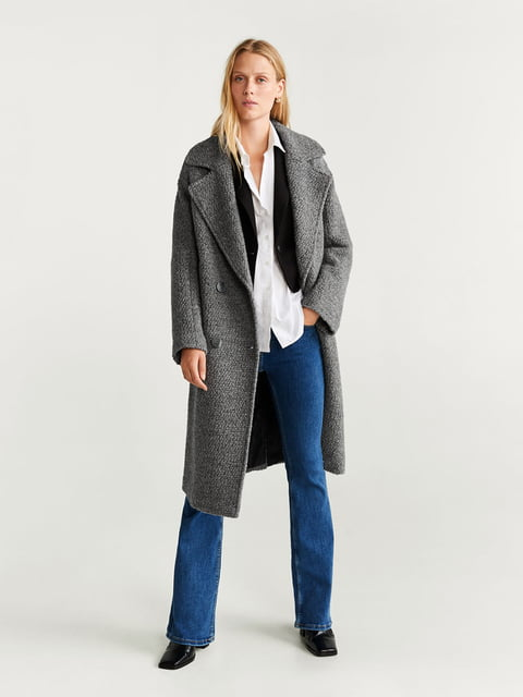 Пальто сіре Mango 5204430