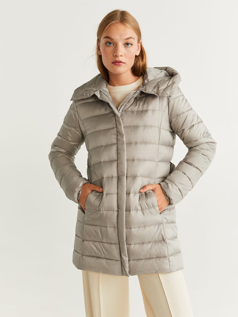Куртка сіра Mango 5216452