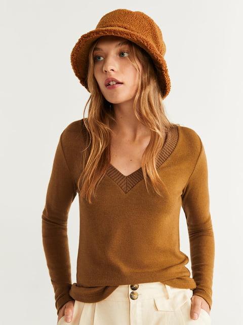 Пуловер коричневий Mango 5216535