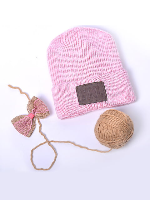 Шапка рожева Monleo 5227664