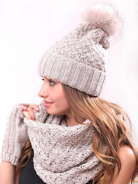 Комплект: шапка, хомут і рукавички Monleo 5227692