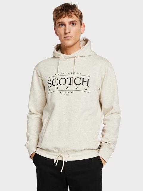 Худи белая с принтом Scotch&Soda 5201897