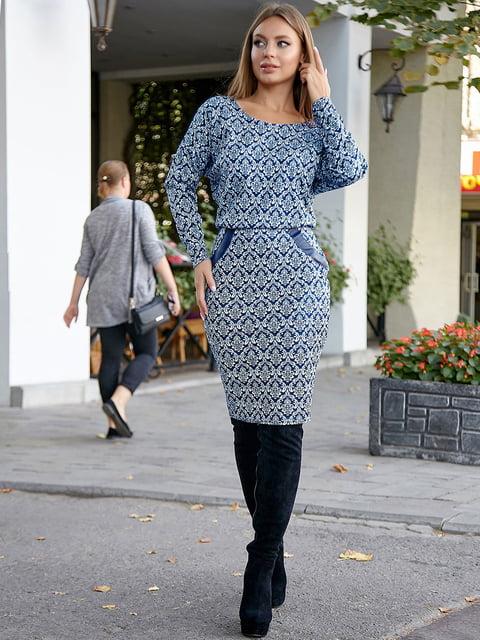 Платье синее с принтом Seventeen 5228413