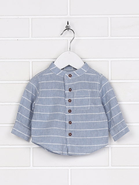 Рубашка голубая Lupilu 5229284