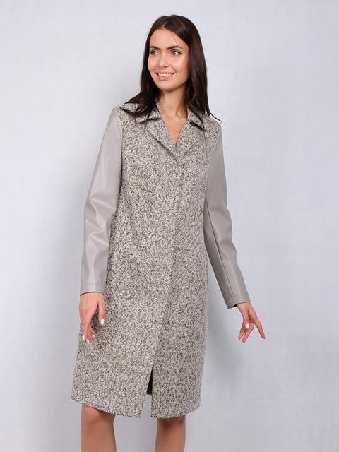 Пальто сіро-зелене Lesya 5109734