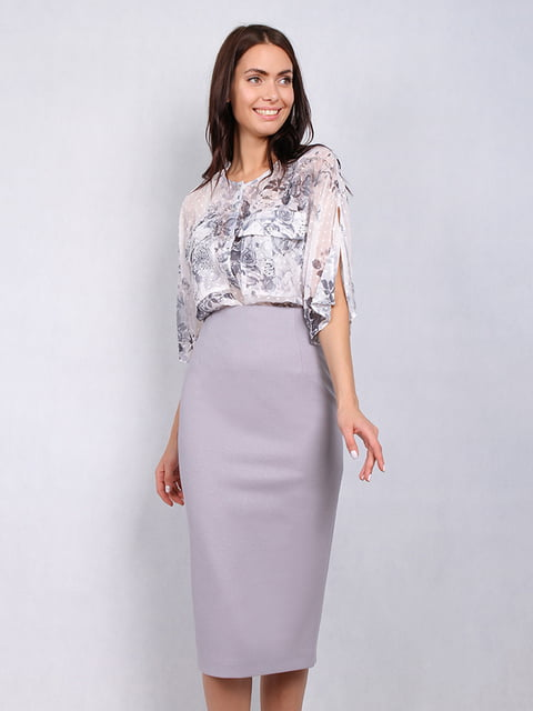 Блуза в цветочный принт Lesya 5114057