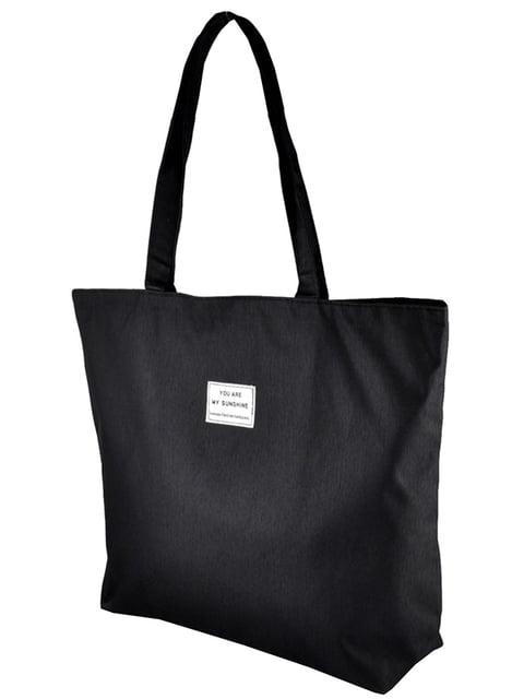 Сумка-шоппер чорна Luvete 5243578
