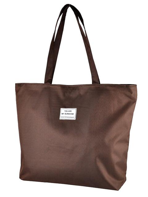 Сумка-шоппер коричневая Luvete 5243579