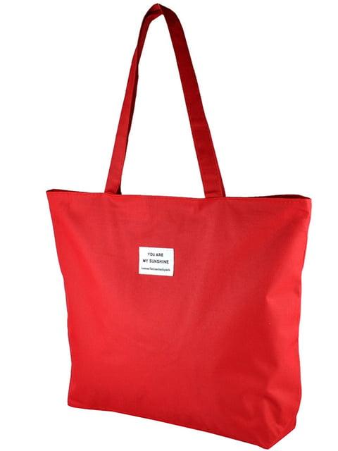 Сумка-шоппер червона Luvete 5243581