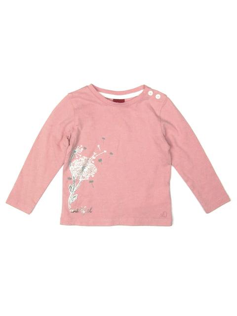 Лонгслив розовый с принтом S.Oliver 5202698