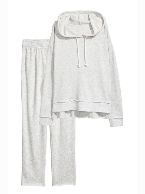 Брюки пижамные светло-серые H&M 5244251