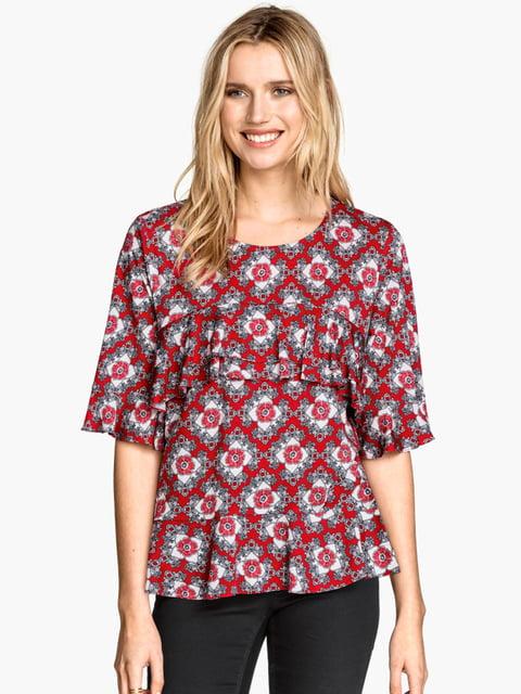 Блуза красная H&M 5244311