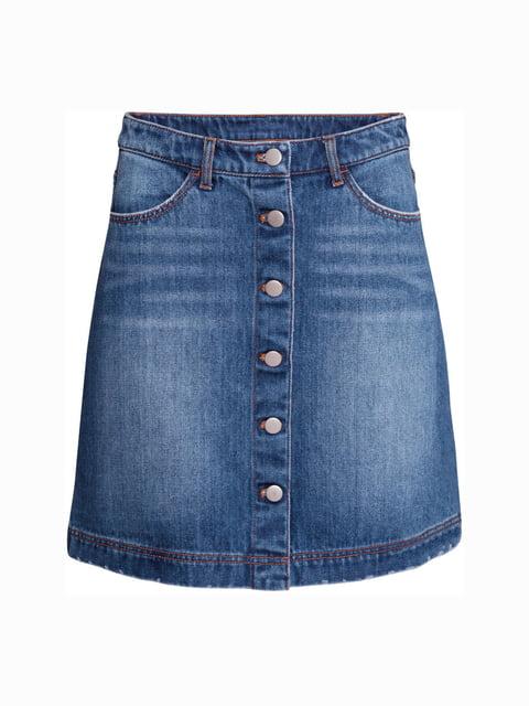 Юбка джинсовая синяя H&M 5244344